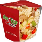 Доставка блюд из лапши - Рис с овощами и грудкой индейки фото