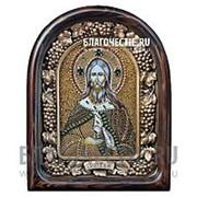 Дивеевские золотошвейные мастерские Илия (Илья) святой пророк, дивеевская икона ручной работы из бисера Высота иконы 61 см фото