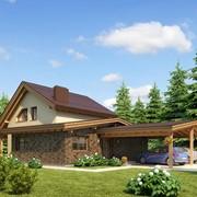 Проект дома с навесом 2-020 фото