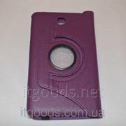 Чехол-книжка поворотный 360° для Samsung Galaxy Tab 4 7.0 T230 T231 T235 (фиолетовый цвет) 4233 фото