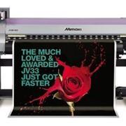 Широкоформатный принтер Mimaki серии JV33 сольвентной печати для световых коробов, сити–лайтов, вывесок, указателей, баннеров, оформления витрин фото