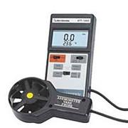 Крыльчатый термо-анемометр АТТ-1002 с выносным датч-ом для изм. скорости потока воздуха 1,4-108км/ч, 0,4-30м/с. Измерение темп-ры возд. потока. Удержание показаний. фото