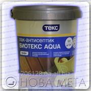 Лак-антисептик на водной основе БиоТекс Aqua Профи Текс 0,9 л фото