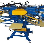 Автоматический трафаретный печатный станок карусельного типа Minimatic для печати по текстилю фото
