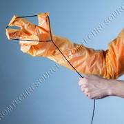 Перчатки акушерские с петлёй, для родовспоможения свиноматок фото