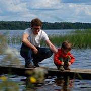 Семейный отдых на природе (баня, рыбалка, ресторан, детская площадка, прокат катамаранов) фото