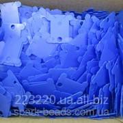 Шпули пластиковые для мулине синие (250 шт) фото