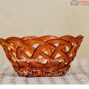 Хлебница плетеная круглая Универсал Код: Арт 046-1 фото