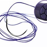 Полиглактин 910 (Викрил) - 75см USP (1; 1/0) игла кругл.колющ. 1/2 фото