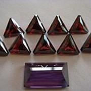 Гранат треугольники ограненный кабашон аметист фото