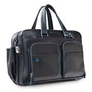 Сумка мужская для ноутбука Piquadro Blue Square, черная фото