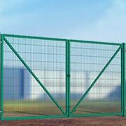 Ворота распашные Fit 3D 3500*2000 (цвет Зеленый) фото