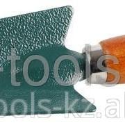 Совок Grinda посадочный, из углеродистой стали с деревянной ручкой, 290 мм Код:8-421213_z01 фото