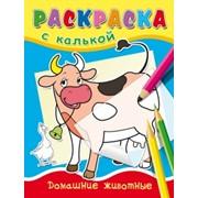 """Раскраска с калькой """"Домашние животные"""", ф. А5, 4 л., (Проф-Пресс) фото"""