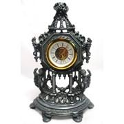 Часы старые каминные оловянные Италия фото