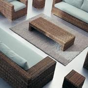 Комфортная мебель с искуственого ротанга фото