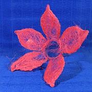 Каркас для букета сизаль цветок 25см розовый фото
