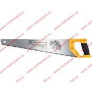 """Ножовка по дереву """"Зубец"""", 500 мм, шаг зуба 7мм, зуб 2D, калёный зуб, 2-х комп. рукоятка// Сибртех фото"""