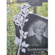 Памятник с художественной резкой фото
