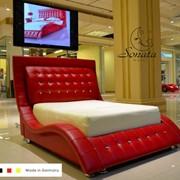 Модные кровати. Немецкие кожаные кровати фото