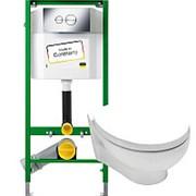 Комплект Viega Eco 713386 + безободковый унитаз Hatria Erika Pro Y1CB + сиденье SoftСlose Y1FR01 фото