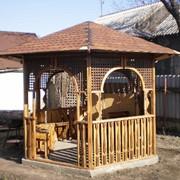 Беседка деревянная, изготовление беседок из дерева, производство продажа фото