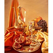"""Натюрморт с гранатом"" автор - Юров Виктор, картина 60х40 холст, масло 2009 фото"