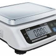 Весы порционные 0.10-30кг платформа 226х187мм CAS SWN-30 фото