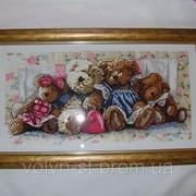 """Вышитая картина """"Ведмедики Тедді"""" фото"""
