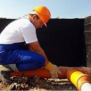 Монтаж систем канализации теплиц фото