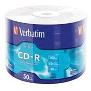 Диск CD-R Verbatim 700Mb 52x Wrap-box Extra (43787) фото