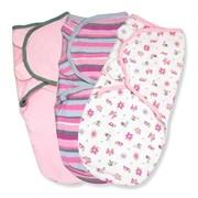 Конверт Summer Infant Конверт на липучке Swaddleme®, (3 шт.), размер S/M, розовые жучки фото