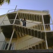 Лестница металлическая маршевая-изготовление и монтаж в Сочи фото