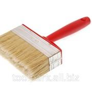 Кисть макловица 140*52мм , искусствен.щетина, деревян. корпус, пластмассов.ручка м84084 фото