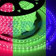 LED лента Neon-Night, герметичная в силиконовой оболочке, 220V, 13*8 мм, IP65, SMD 5050, 60 диодов/метр, цвет светодиодов RGB, бухта 50 метров фото