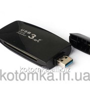 Картридер USB3.0 мульти TF-CF-MS-SD-SDHC-SDXC фото