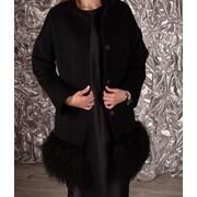 Пальто с мехом Ламы фото
