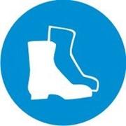 Знак Необходимо носить защитную обувь фото