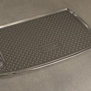 Коврик в багажник VW Polo 2010–наст. время хэтчбек (полиуретановый с бортиком) фото