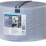 Полотенца протирочные Tork Advanced W1, 2-слойные в Макси рулонах, 1500л, 235х390, голубые 130051 фото