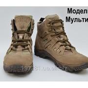 Тактические кроссовки с увеличенной берцой на мембране. Модель 4 мультикам 44, 37 фото