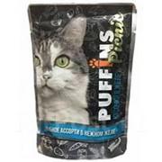 Puffins Picnic 85г пауч Влажный корм для взрослых кошек Рыбное ассорти (желе) фото