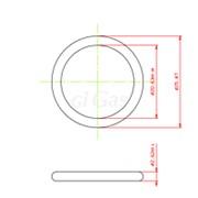 Кольцо резиновое уплотнитель для расходомера, размер 25,87*2,62 мм FB фото