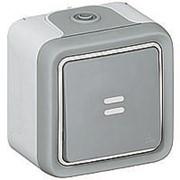 Переключатель 1-кл. О/У 10А 250В с подсветкой серый IP 55 Plexo 55 фото