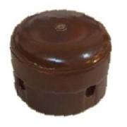 Коробка керамическая D80 H55 Brown (коричневый) арт 2010002 фото