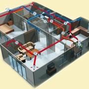 Установка, разводка приточно-вытяжной вентиляции в Астане фото