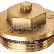 "Заглушка для коллектора НР 1 1/2"", с уплотнением O-ring, латунная, артикул FK 4149 112 фото"