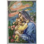 Вышитые картины, ікона Марія і Ісус фото
