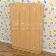 Шкаф для раздевалки в детский сад на 3 секции (920х250х1250 мм) фото
