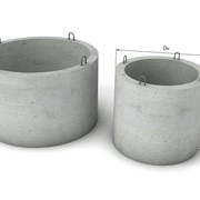 Burlane , inele de beton. Бетонные кольца для колодца. фотография